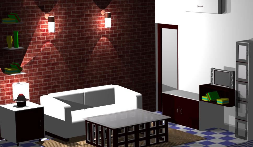 My new room interior in cad design plus creation for Room design cad